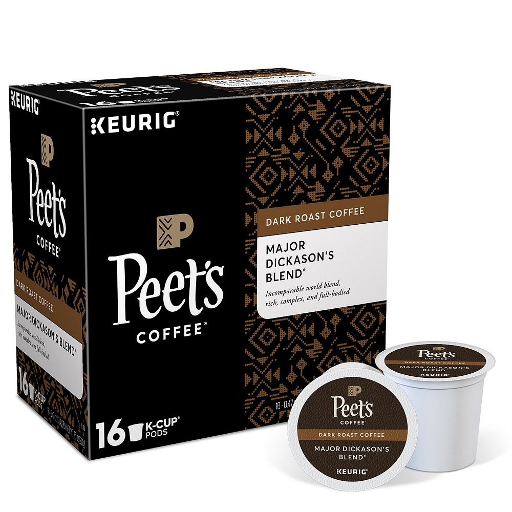 Peet's Coffee Major Dickason's Blend, Keurig® K-Cup® Pods, Dark Roast, 16 Count