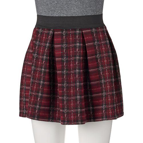 0c750392c Joe B Plaid Textured Juniors' Skater Skirt