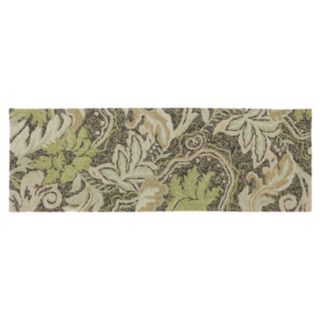 Kaleen Home and Porch Coffee Bluff Leaf Indoor Outdoor Rug