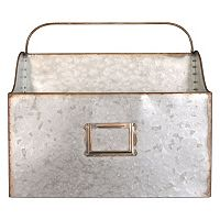 Belle Maison Galvanized Wall Bin