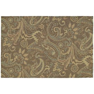 Kaleen Home and Porch Rivers End Leaf Indoor Outdoor Rug
