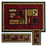 StyleHaven Treble Southwest Lodge 3 pc Rug Set