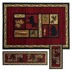StyleHaven Treble Southwest Lodge 3-pc. Rug Set