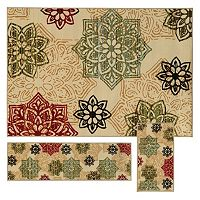 StyleHaven Treble Floral Medallion 3-pc. Rug Set