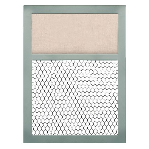 Belle Maison Linen & Chicken Wire Board Wall Decor