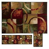 StyleHaven Treble Geometric Circle & Block 3 pc Rug Set