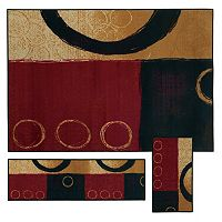 StyleHaven Treble Abstract 3-pc. Rug Set