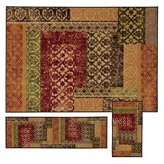 StyleHaven Treble Stamped Lattice 3-pc. Rug Set