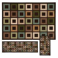 StyleHaven Treble Geometric 3 pc Rug Set