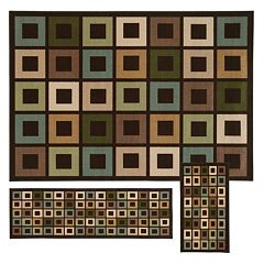 StyleHaven Treble Geometric 3 pc Rug Set
