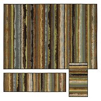 StyleHaven Treble Eroded Stripes 3 pc Rug Set