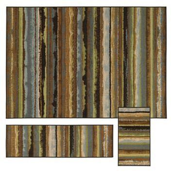 StyleHaven Treble Eroded Stripes 3-pc. Rug Set