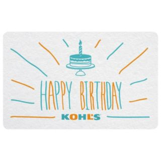 Happy Birthday Cake Gift Card