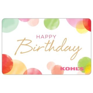 Happy Birthday Dots Gift Card