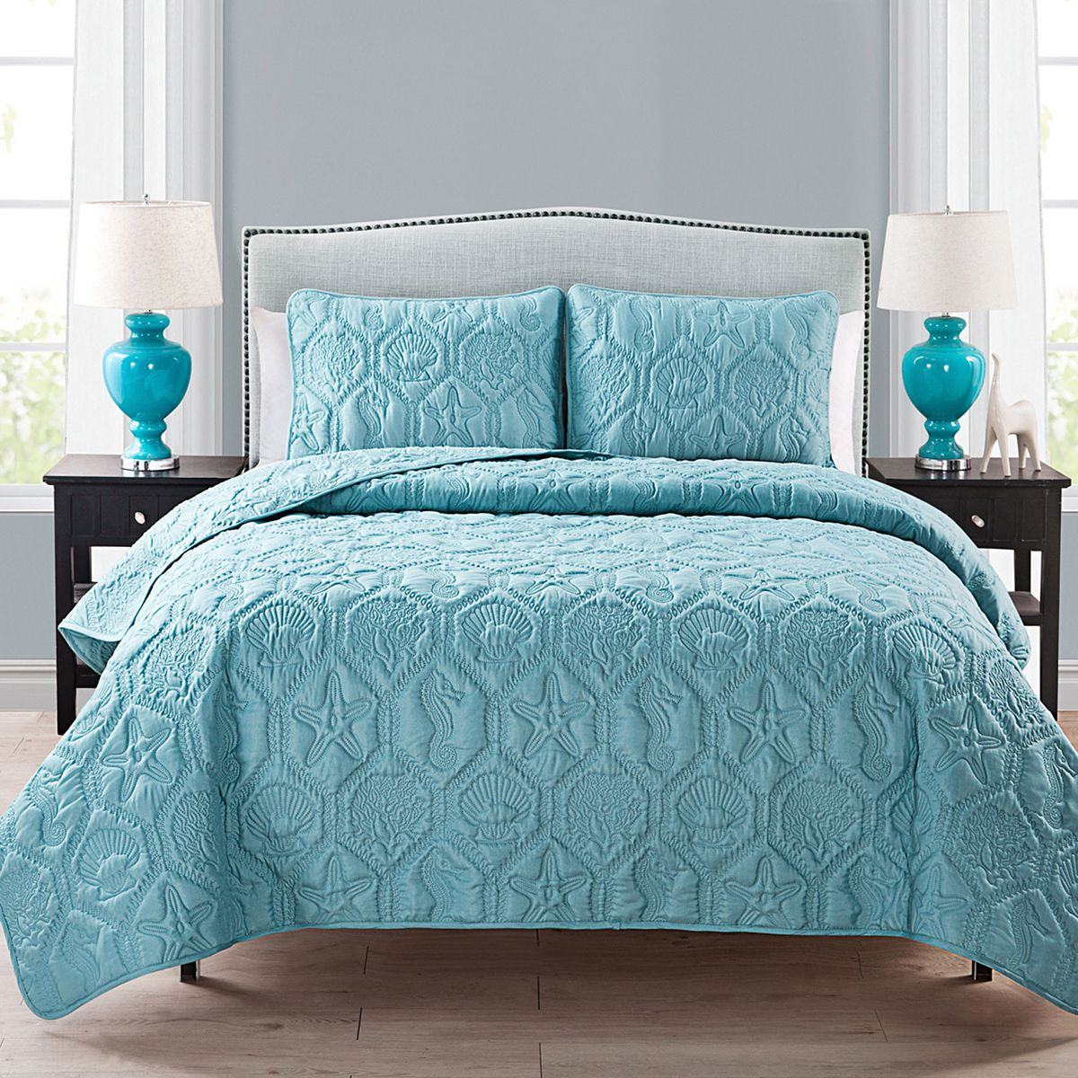 The Queen Size VCNY Home Shore Quilt Sets  $28.49