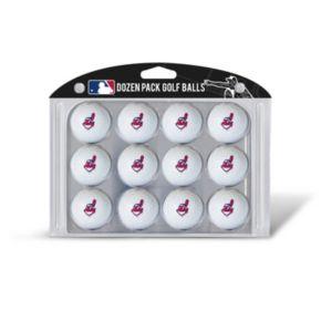 Team Golf Cleveland Indians 12-Pack Golf Balls