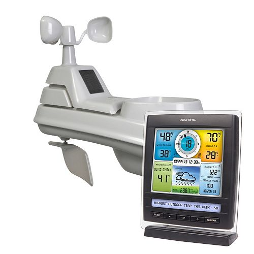 AcuRite Digital Wireless Pro Color Weather Station with Weather Ticker, Wind & Rain