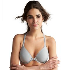 Hanes Ultimate Bra: Soft Front-Close Convertible T-Shirt Bra HU01