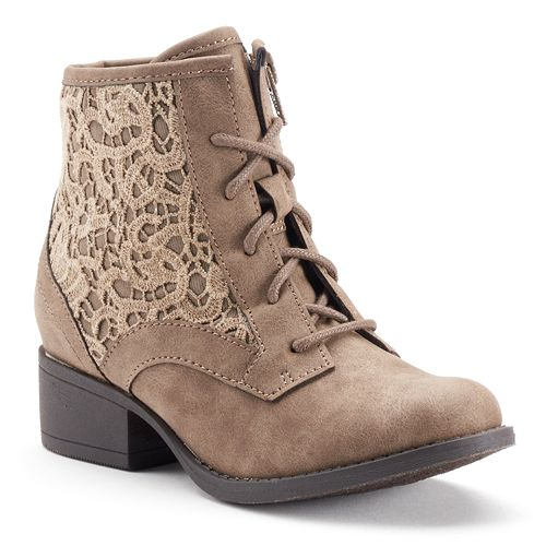 Girls' Crochet Ankle Boots