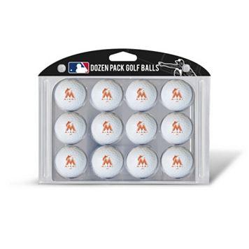 Team Golf Miami Marlins 12-Pack Golf Balls