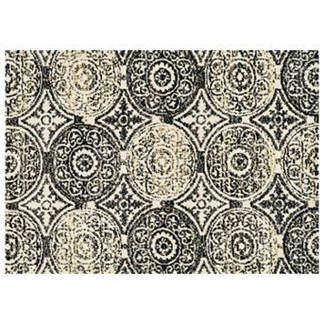 Loloi Avanti Black & Gold Medallion Rug
