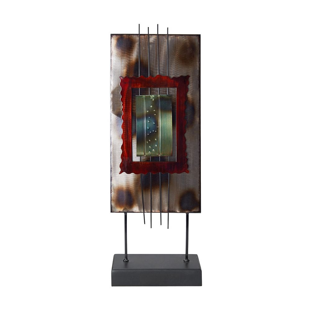 Elements Burnt Abstract Table Decor