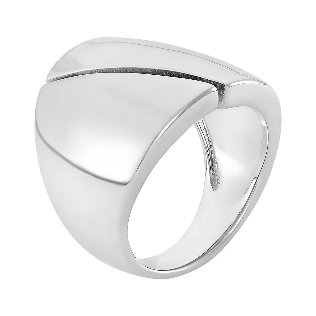 Sterling Silver Contemporary Wide Band Ring