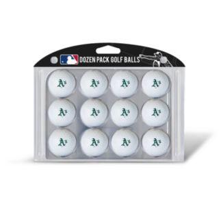 Team Golf Oakland Athletics 12-Pack Golf Balls
