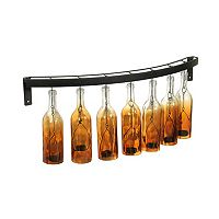 Elements Fading Amber Wine Bottle LED Candle Wall Sconce