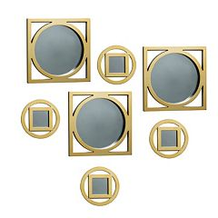 Elements 7 pc Circle Square Wall Mirror Set