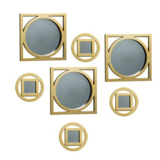 Elements 7-piece Circle Square Wall Mirror Set
