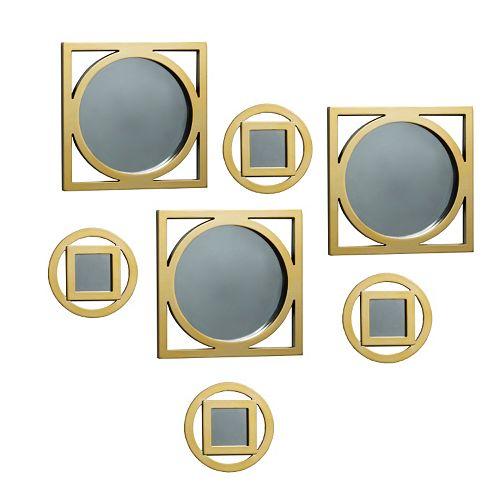 Elements 7-piece Circle Square Wall Mirror Set