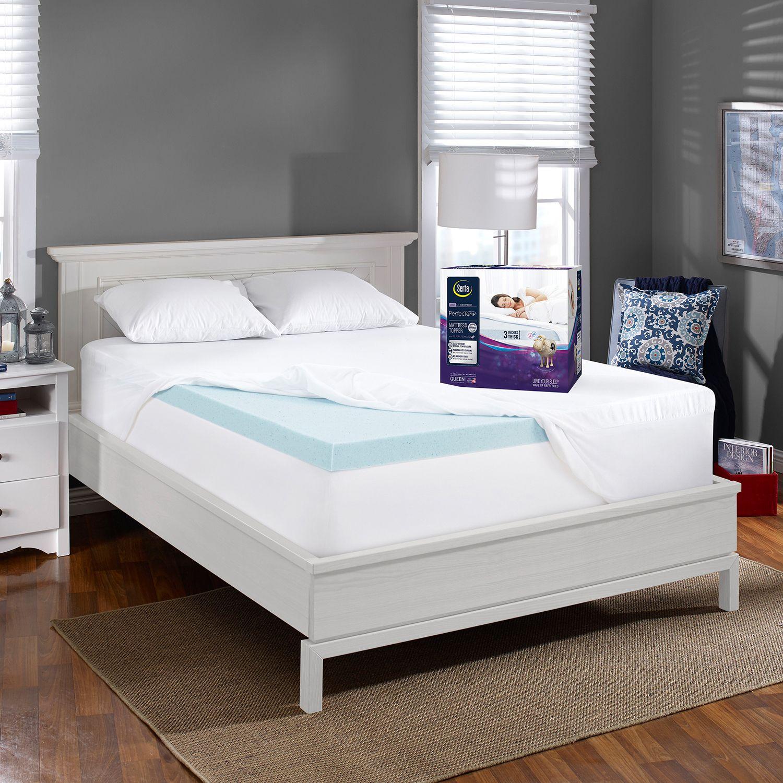 serta perfectemp 3u0027u0027 gel memory foam deeppocket mattress topper
