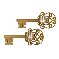 Elements 2 pc Vintage Key Wall Sconce Set