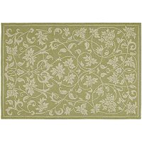 Kaleen Home & Porch Presley Leaf Indoor Outdoor Rug