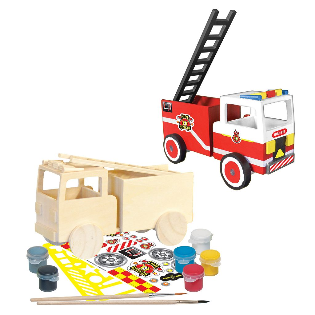 MasterPieces Works of Ahhh... Wood Painting Kit - Firetruck