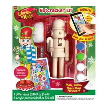 MasterPieces Works of Ahhh... Wood Painting Kit - Nutcracker Elf