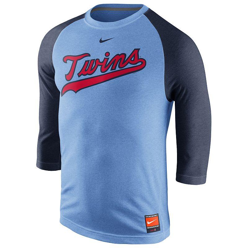 Nike Minnesota Twins Cooperstown Raglan Tee - Men