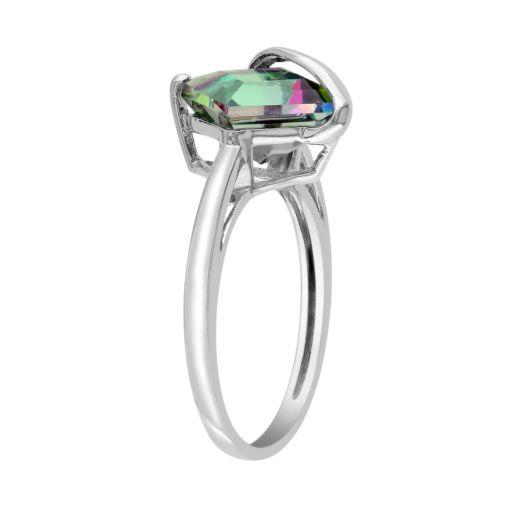 Stella Grace Exotic Green Topaz 10k White Gold Ring