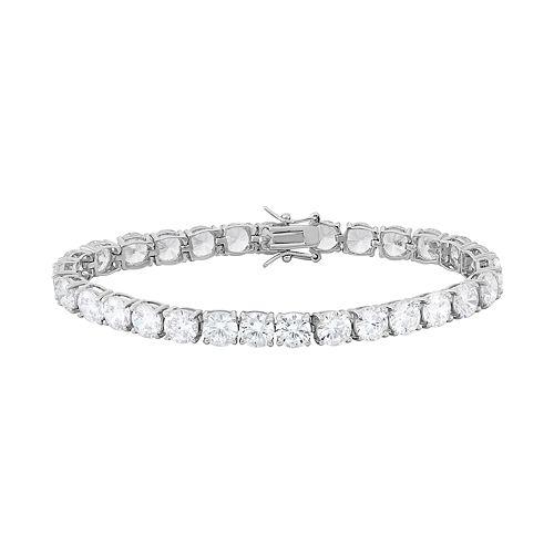 cubic zirconia sterling silver tennis bracelet. Black Bedroom Furniture Sets. Home Design Ideas