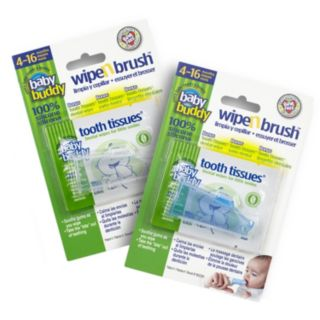 Baby Buddy 2-pk. Wipe 'n Brush & Tooth Tissues Set