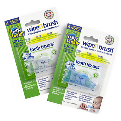 Baby Buddy 2-pk. Wipe 'n Brush & Tooth Tissues Set