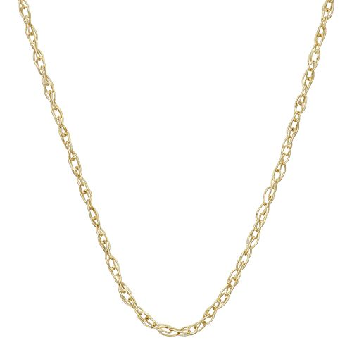 14k Gold Cable Chain Necklace - 18 in.