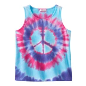 Design 365 Tie-Dye Peace Sign Tank - Girls 4-6x