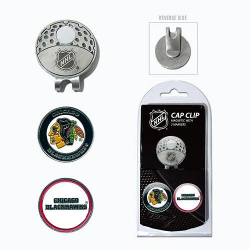 Team Golf Chicago Blackhawks Cap Clip & Magnetic Ball Markers