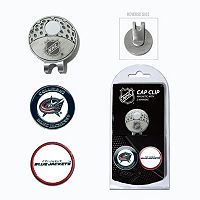 Team Golf Columbus Blue Jackets Cap Clip & Magnetic Ball Markers