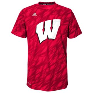 Boys 8-20 adidas Wisconsin Badgers Mark My Words climalite Tee