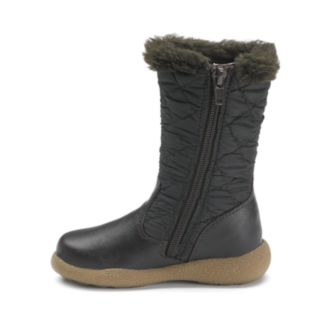 Rachel Shoes Toddler Girls' Faux-Fur Lined Quilted Boots