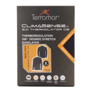 Men's Terramar Climasense 2.0 Thermolator CS Performance Base Layer Tee