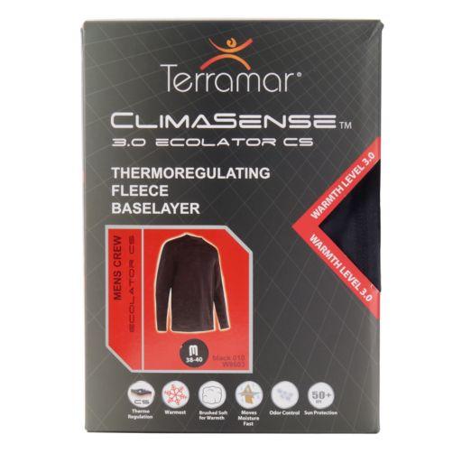 Men's Terramar Climasense 3.0 Ecolator CS Thermoregulating Fleece Performance Base Layer Crew